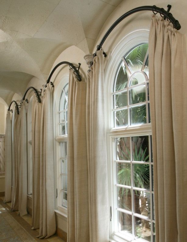 Arched Window Curtain Rod Pinteres