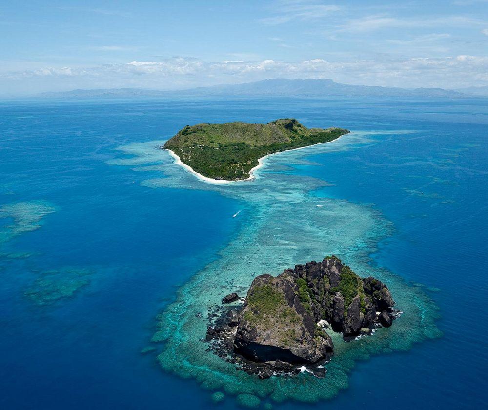 Aerial view. Vomo Island Resort, Fiji  www.islandescapes.com.au