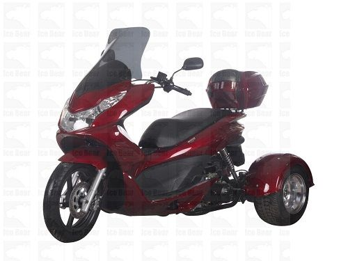 49cc Scooter Trike Q6 Red