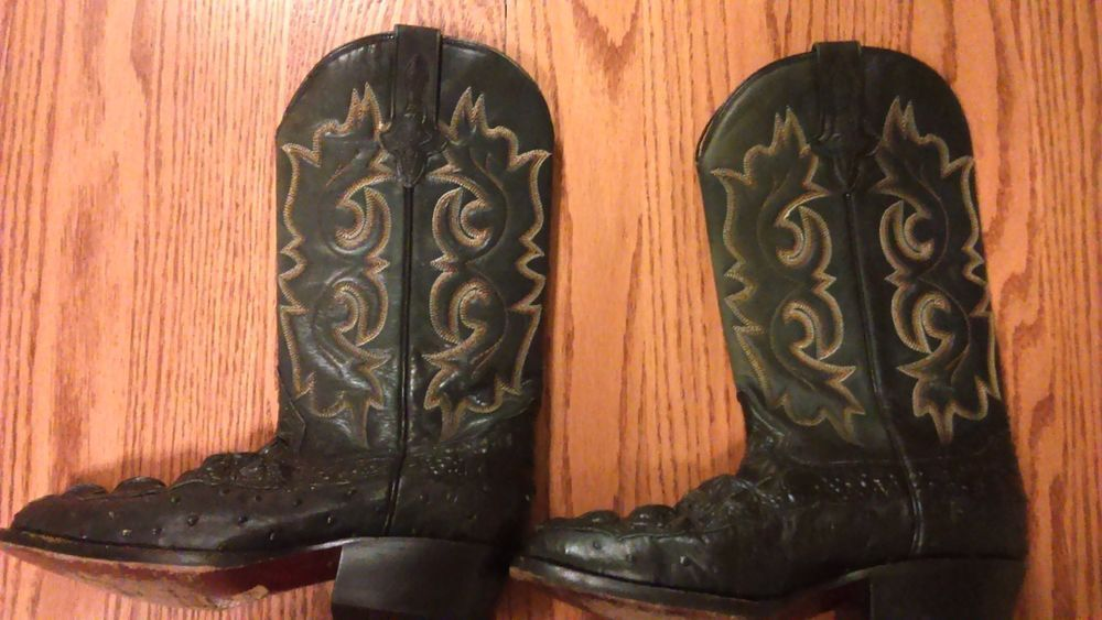 RUDEL AUTHENTIC OSTRICH LEATHER WESTERN