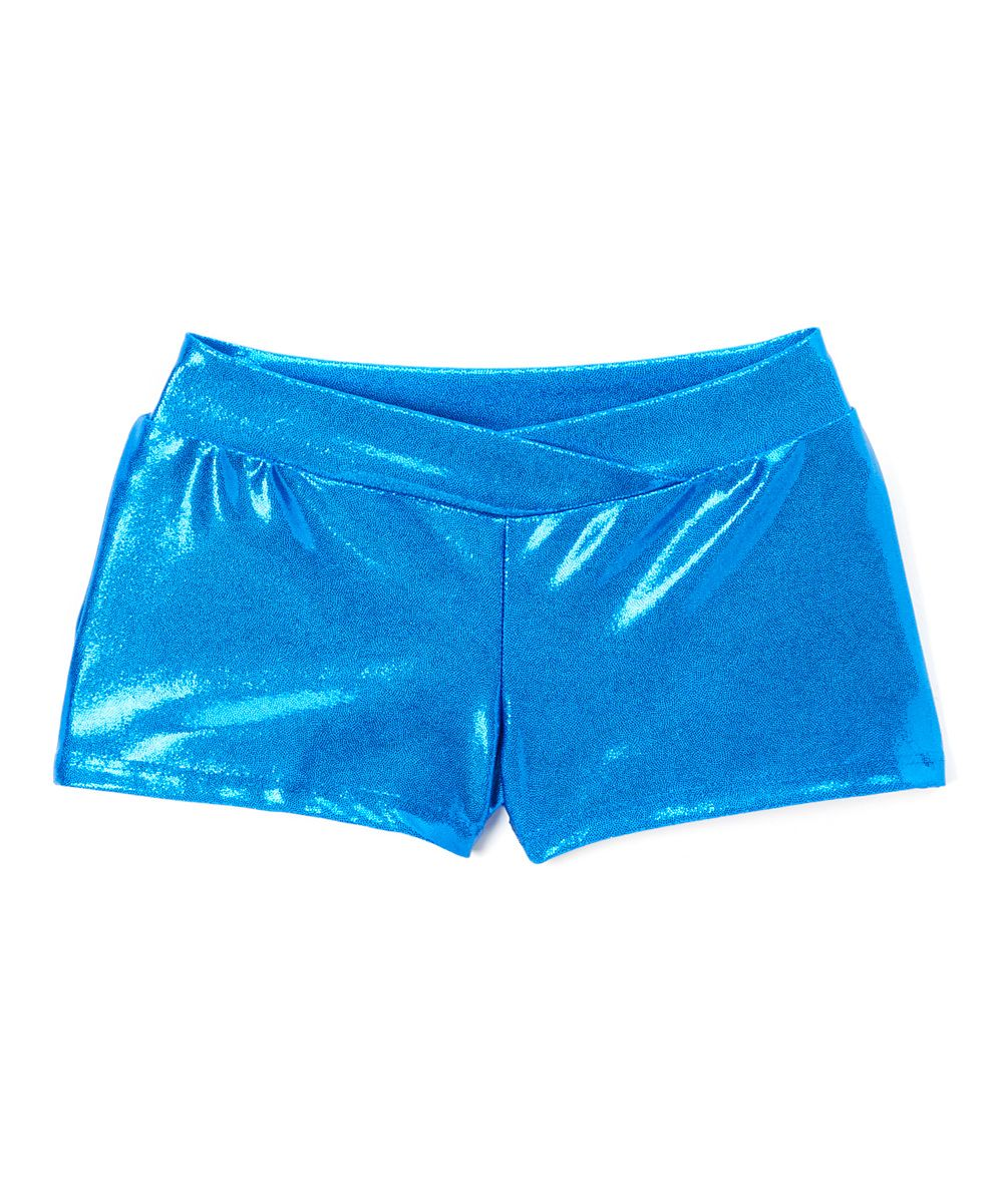 Royal Metallic Shorts - Girls