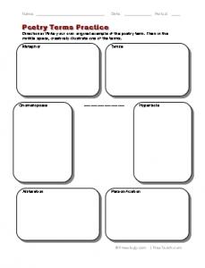 Printables Analyzing A Poem Worksheet poetry worksheet davezan analyzing davezan