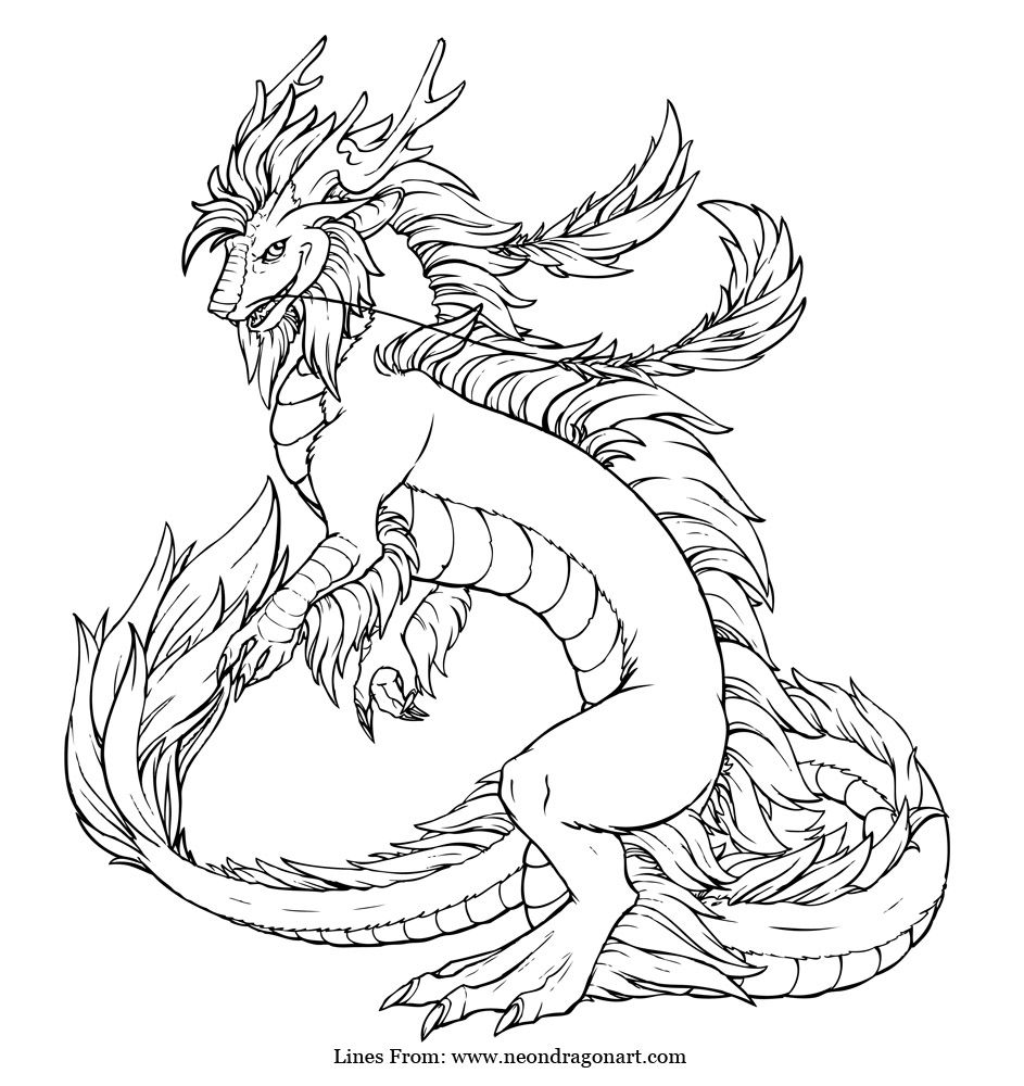 Imperial dragon coloring page | Color Me Pretty | Pinterest ...