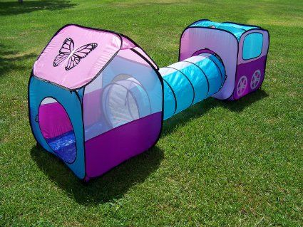 Kids Pop Up Girls Play Tent Set With Tunnel Play Ground Room New : girl play tents - memphite.com