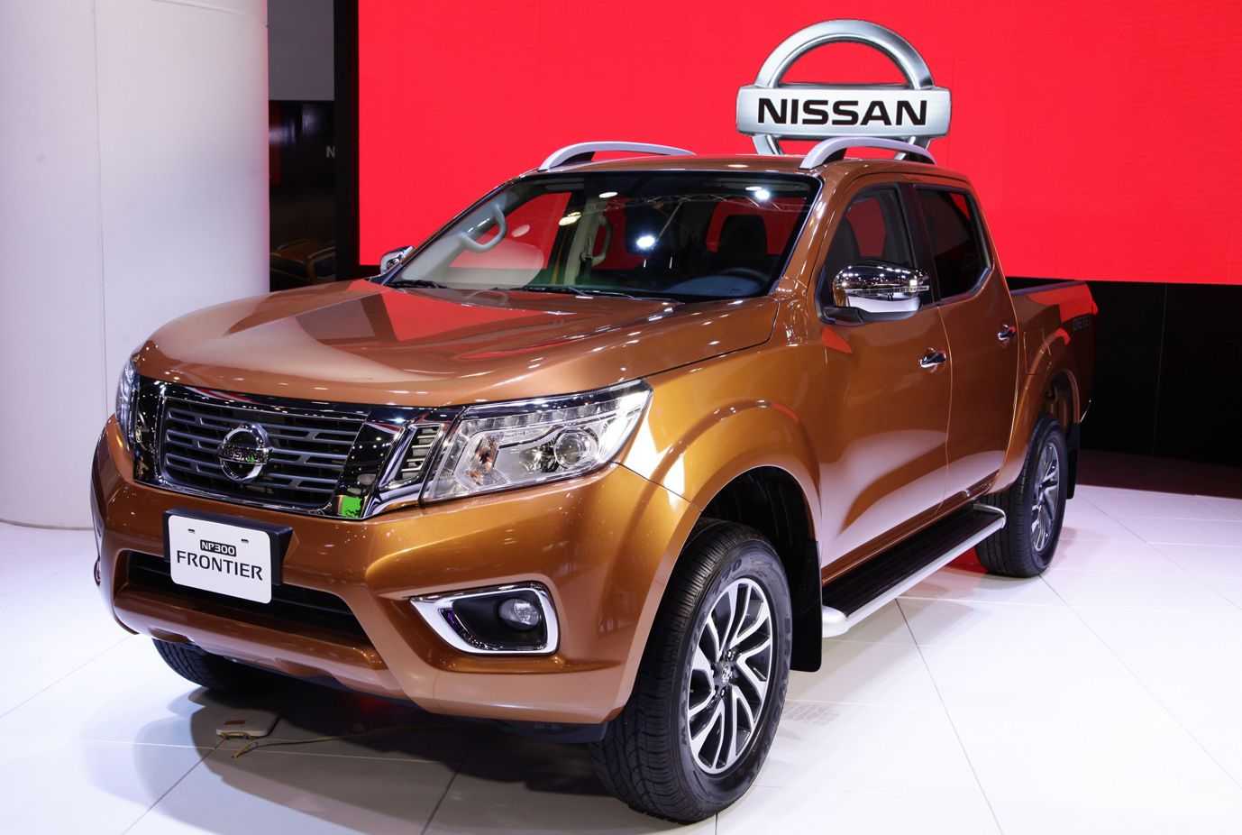 The next generation nissan frontier basically an upgrade to the nissan navara has been displayed at the international exhibition of buenos aires