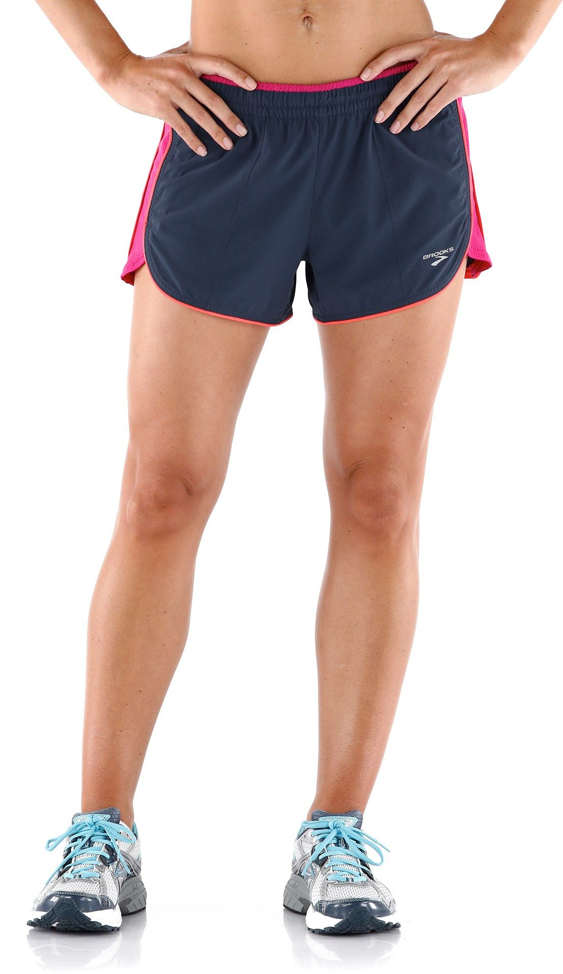 b6a2bd9ad10 Built with a colorful waistband you can roll down for a touch of style  while you train—the women s Brooks Epiphany Stretch Shorts III.