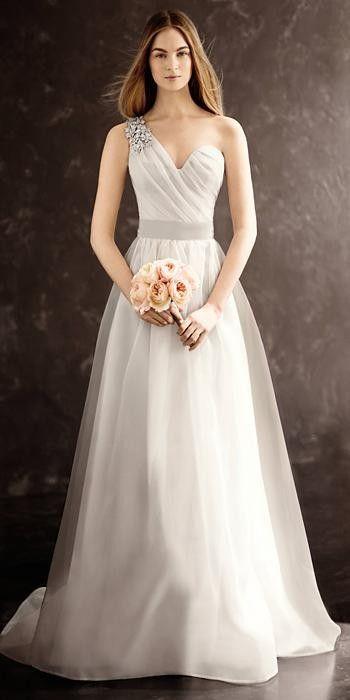 89 Best White von Vera Wang Strukturiertes Organza-Brautkleid