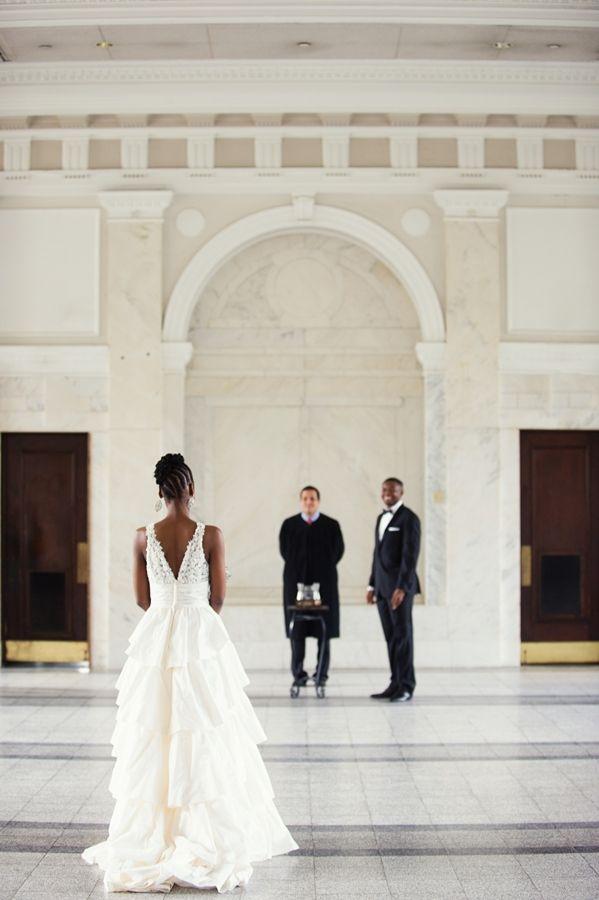 Atlanta Courthouse Wedding By Scobey Photography Tamika And Antonio Munaluchi Bride Courthouse Wedding Munaluchi Bride Bride