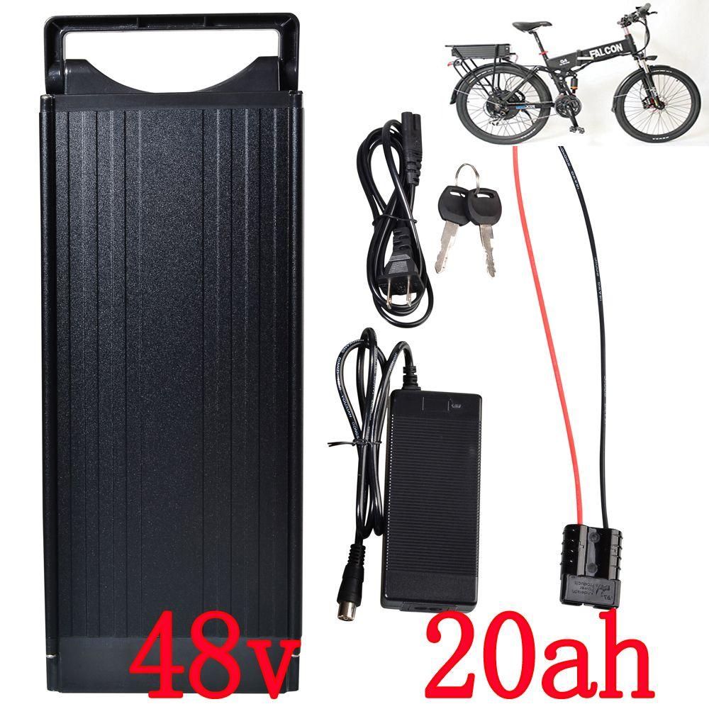 Free Shipping High Capacity Electric Bike Battery 48v 20ah Lithium Battery 1000w Rear Rack Battery Electric Bicycle Bicycle Battery Electric Bicycle Battery