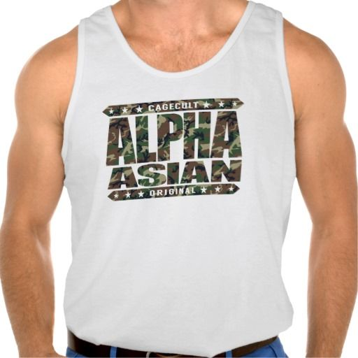 ALPHA ASIAN - On Top of Genetic Food Chain, Camo Tank Tops Tank Tops