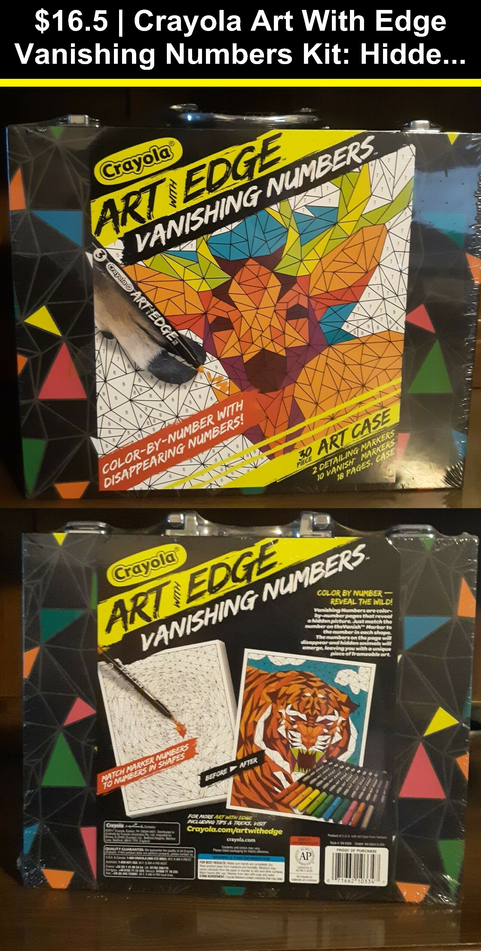 Other Kids Drawing And Painting 160718 Crayola Art With Edge Vanishing Numbers Kit Hidden Animal Pages Markers And Case Buy I Crayola Art Art Kit Crayola