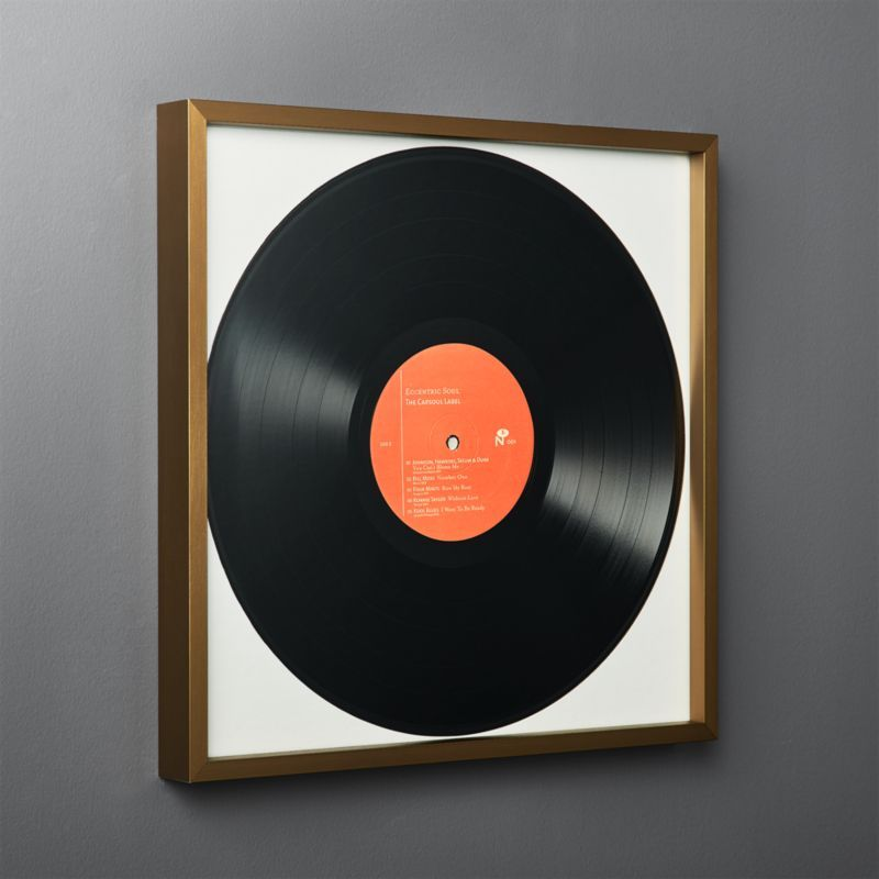 Gallery Brass Record Frame With White Mat Framed Records Vinyl Record Display Wall Decor Pictures