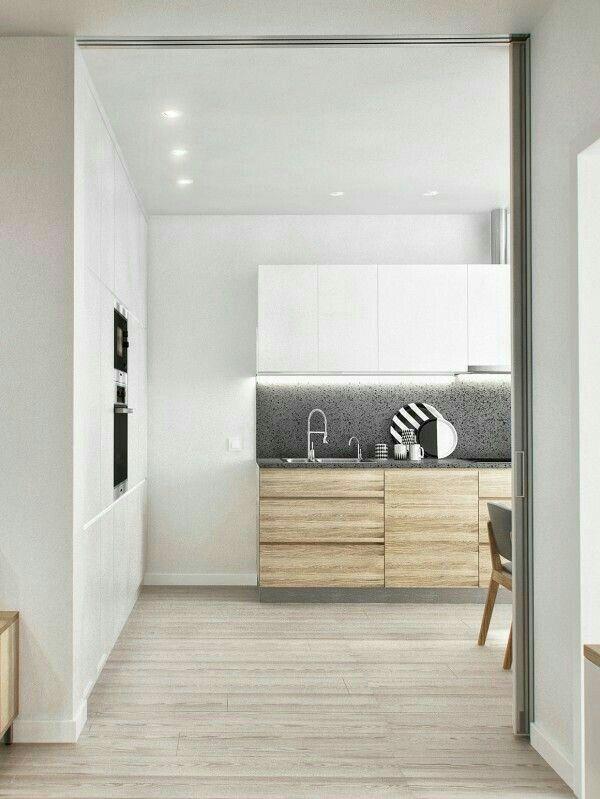 Combi hout en wit