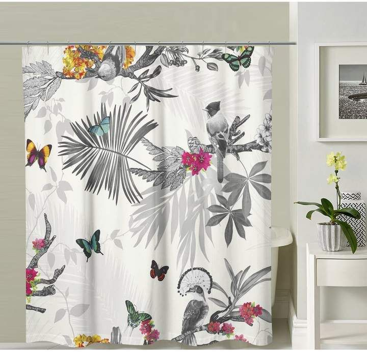 East Urban Home Bookout Single Shower Curtain Gray Shower