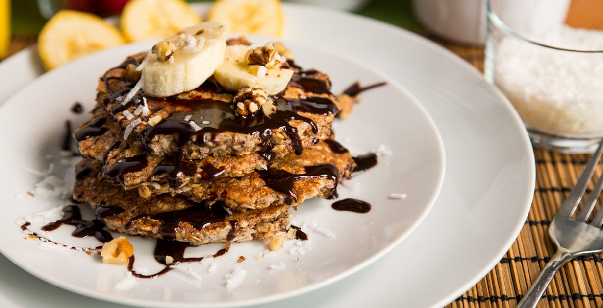 Hotcakes con avena ptoteicos