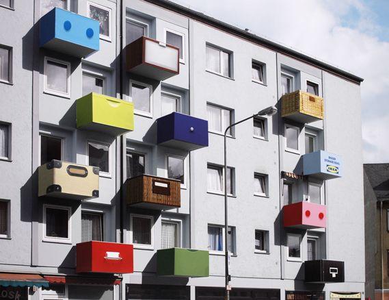Environmental Graphics : Bigger Storage Ideas by Ogilvy Frankfurt, for IKEA (Germany)