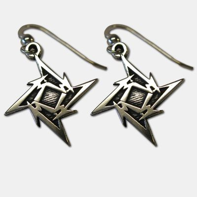 metallica ninja star dangling earrings products i love pinterest ninja star metallica and. Black Bedroom Furniture Sets. Home Design Ideas