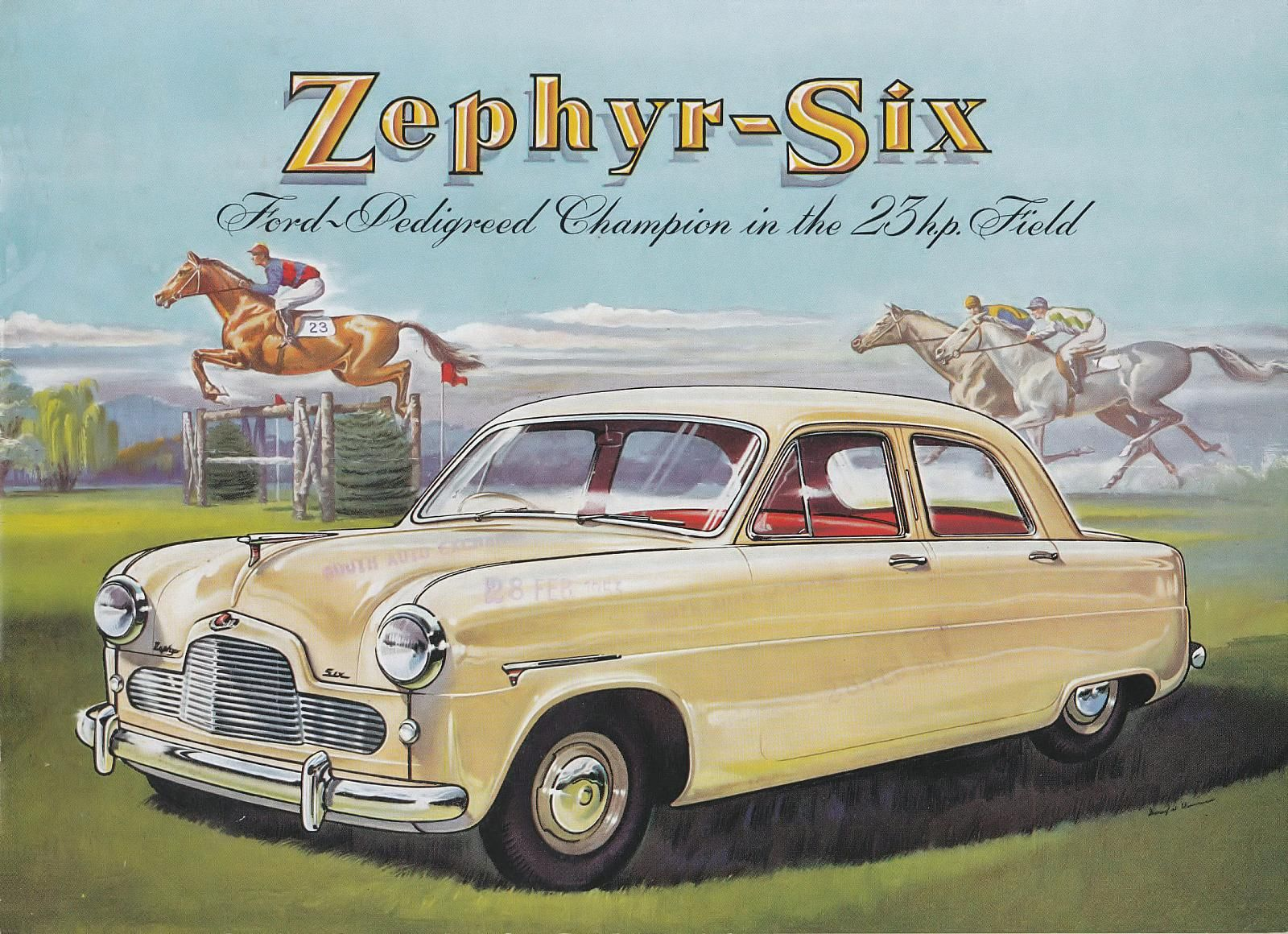 1951 Ford Zephyr Six Brochure Aus Ford Zephyr Retro Cars Ford