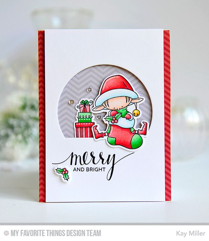 Santa's Elves, Hand Lettered Holiday, Santa's Elves Die-namics, Stitched Arch STAX Die-namics - Kay Miller #mftstamps