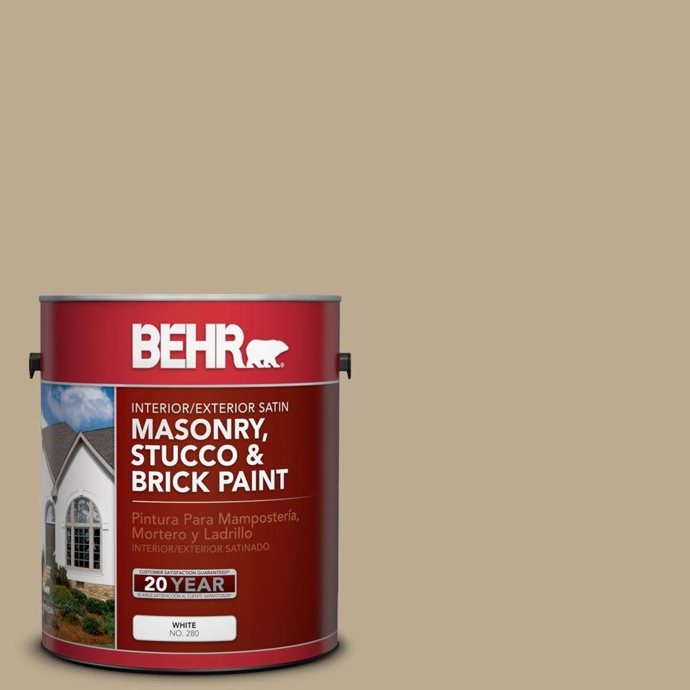 BEHR Premium 1-gal. #MS-44 Autumn Tan Satin Interior/Exterior ...