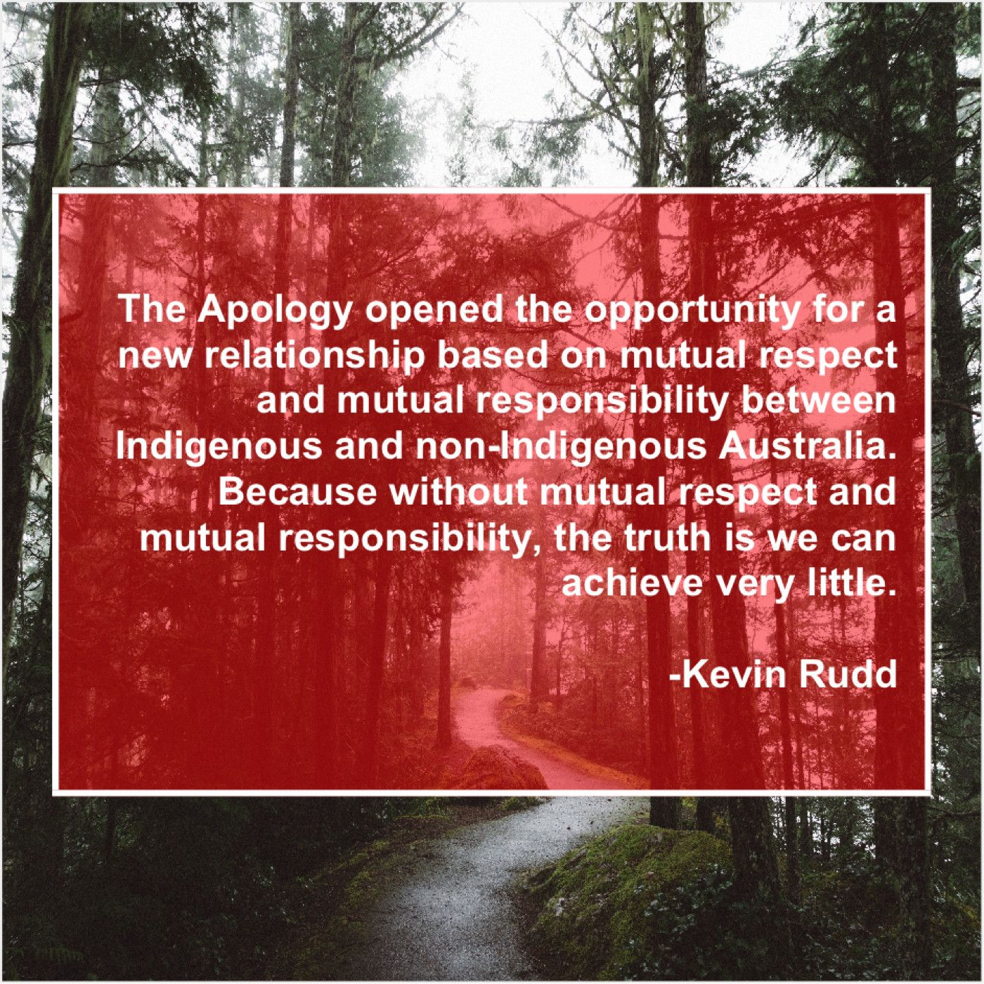 Kevin Rudd The Apology Opened The Opportunity Cheryl James Robin Yount Todd English