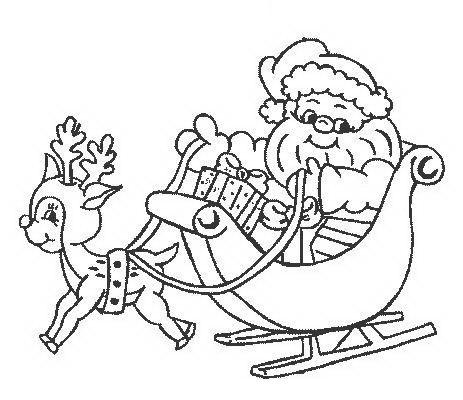 Dolce Babbo Natale Con Renna Disegno Di Natale Da Colorare Disegni