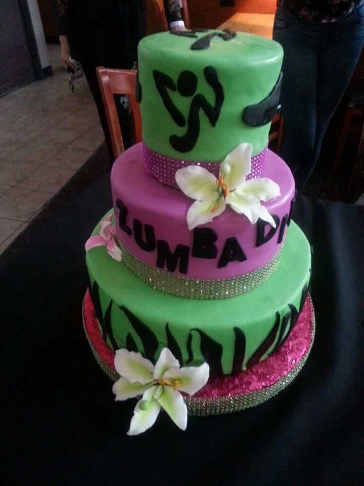Zumba Birthday Cake I Am So Proud Of This Cake As It Came Straight
