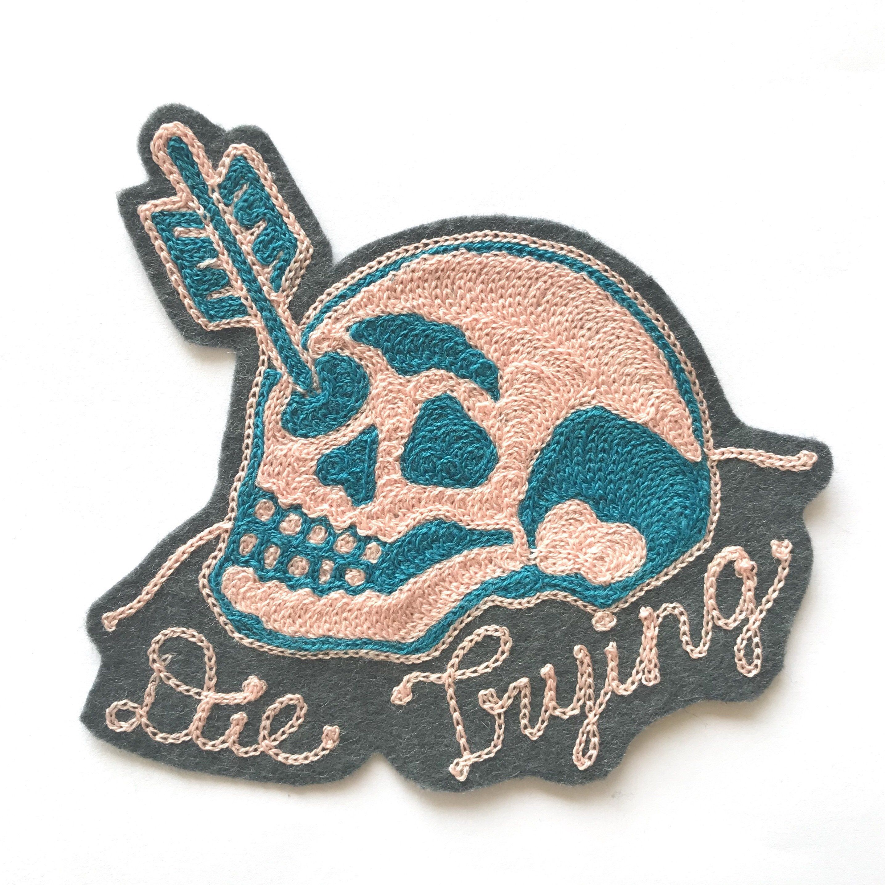 Skull Cross Gun Cowbo Patch Iron On Sew On Embroidered  Bag Badge Applique Patch