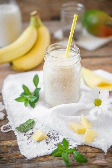 Mango-Bananen Smoothie mit Chia-Samen - Das Küchengeflüster