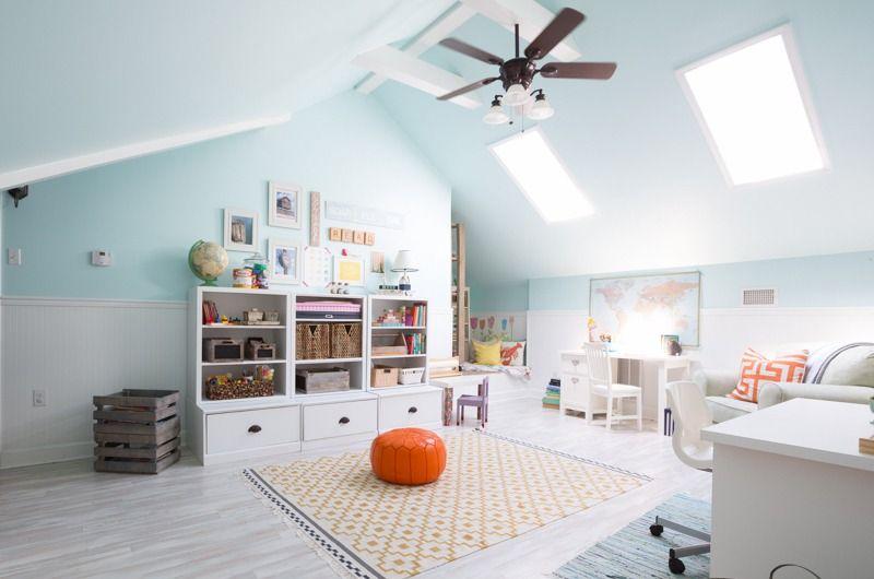 Salle de jeu à la maison- 30 idées d'aménagement et déco parfaits | Amenagement salle de jeux ...