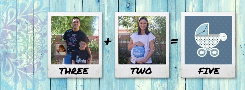 Awesome pregnancy announcement created by my talented husband.