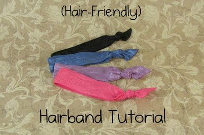 I have several of this style of hair tie and they are wonderful! This tutorial includes link of where to get the right elastic :)