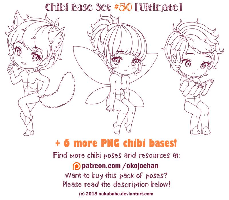 Chibi Pose Reference (Ultimate Chibi Base Set 50) by