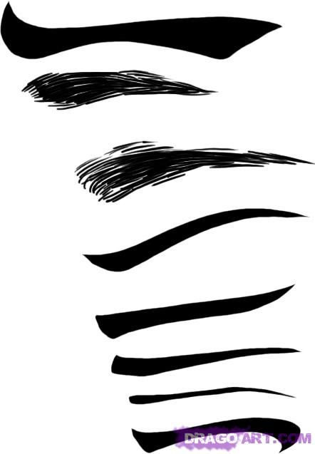 How To Draw Eyebrows Step By Step Eyes People Free Online How To Draw Eyebrows Eyebrows Sketch Cartoon Eyebrows