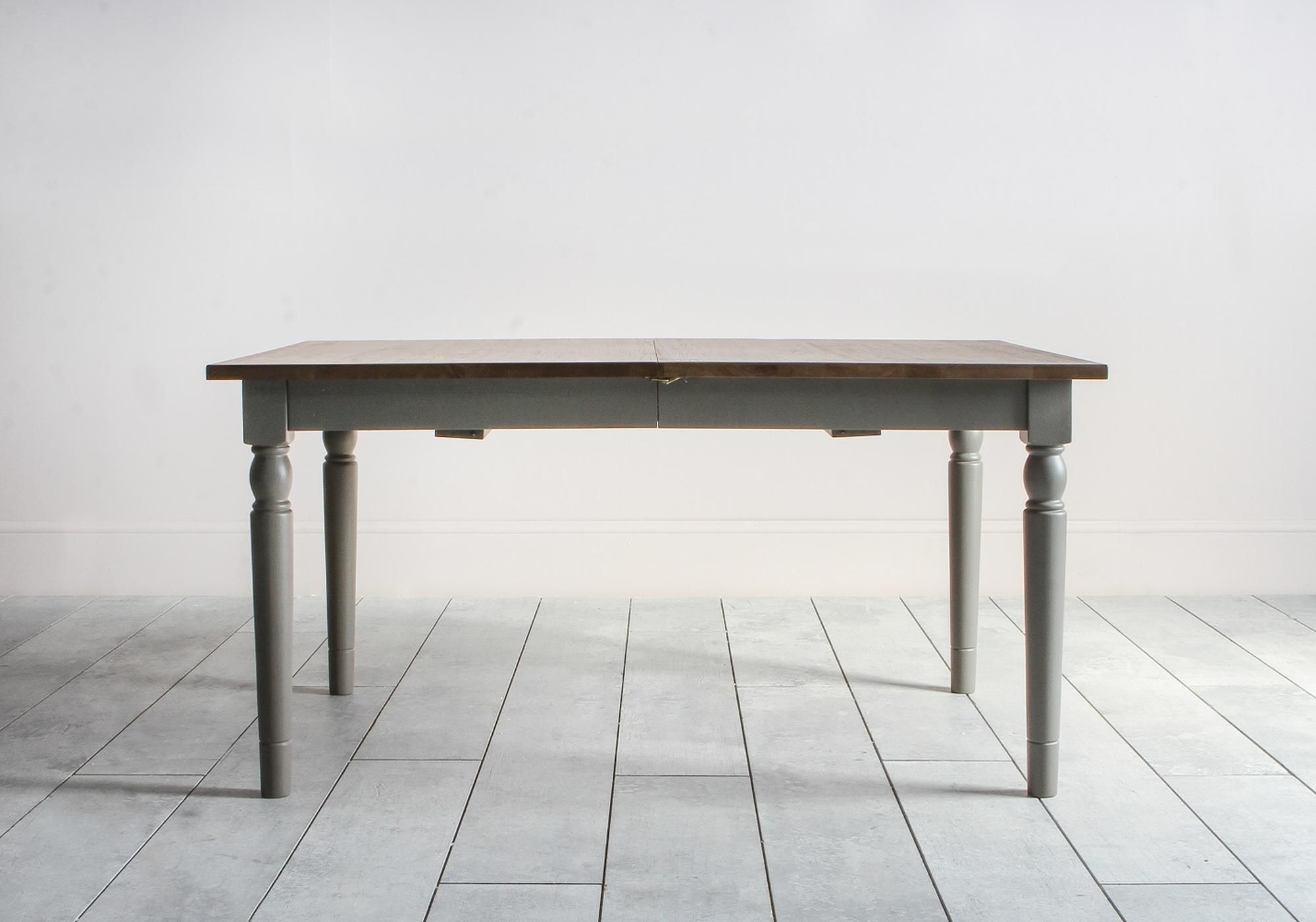 Cooper Oak Extendable Dining Table In Storm Grey Dining Table