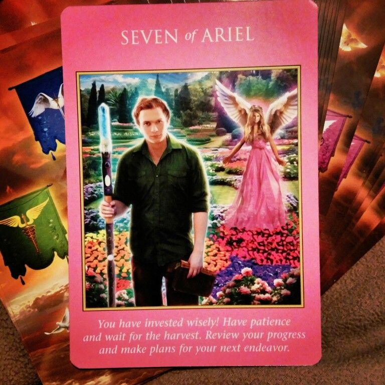 ~Seven Of Ariel Card From Archangel Power Tarot Cards By Doreen Virtue And Radleigh  Valentine