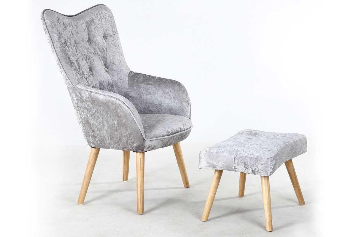 Phenomenal Alton Modern Silver Crushed Velvet Fabric Occasional Accent Machost Co Dining Chair Design Ideas Machostcouk