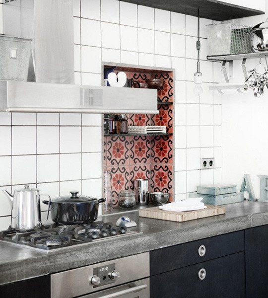 Look! Raspberry Moroccan Tile Accents