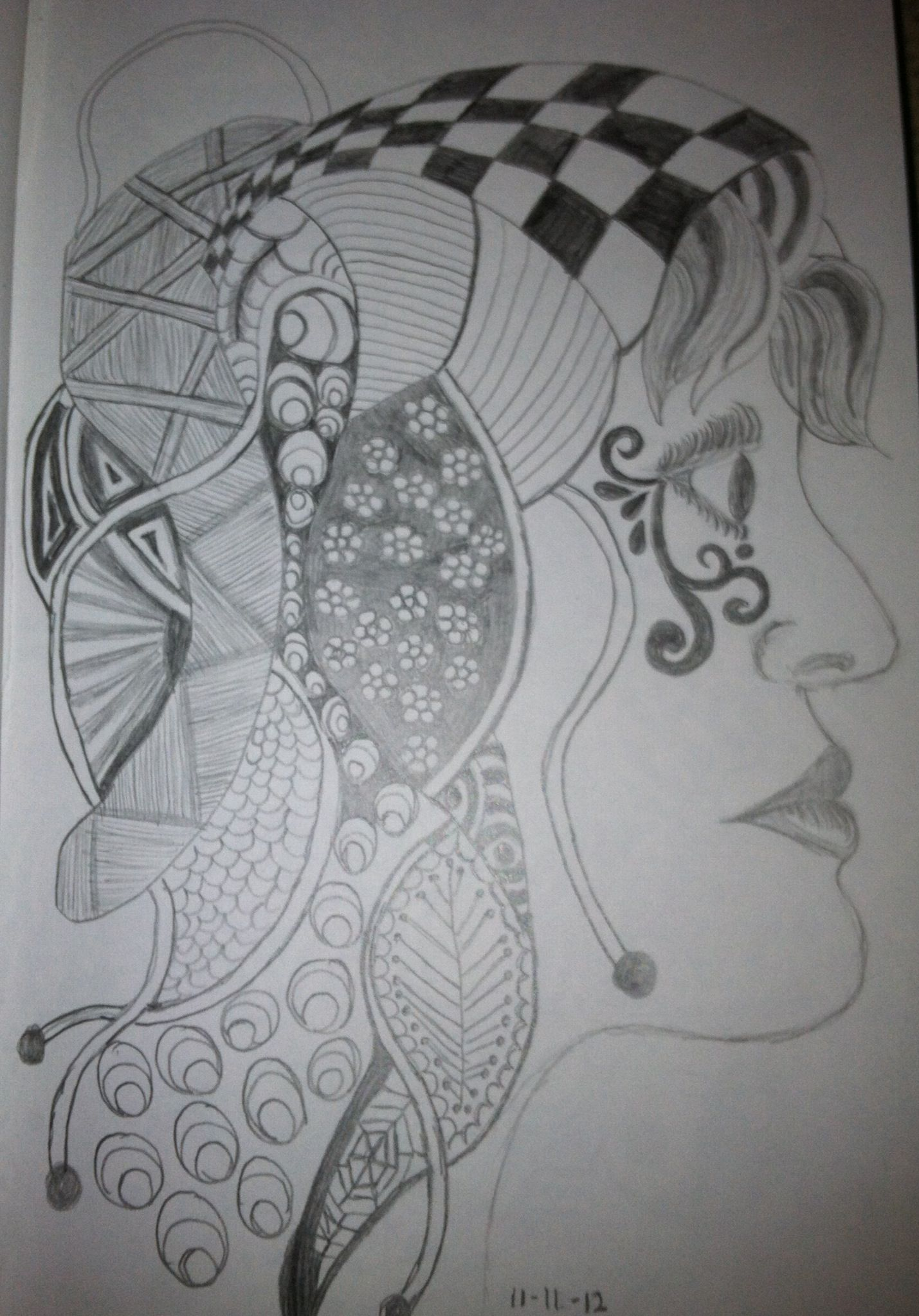 Zentangle Gypsy by Tina Lonabarger