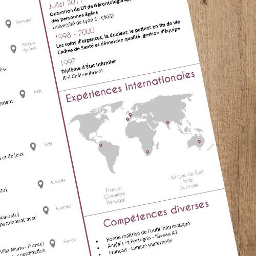 Valoriser Les Experiences Internationales Dans Un Cv Graine Graphique Le Cv Cadre De Sante Creer Un Cv