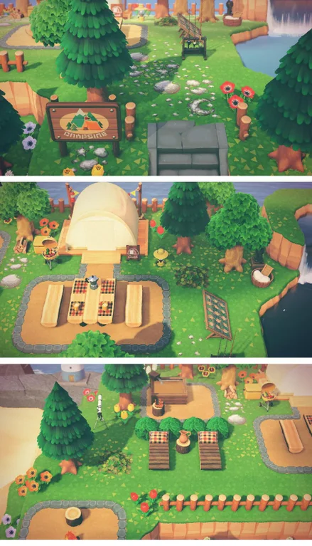 My Campsite First Remodeled Spot For My New Island Layout Animalcrossingtours Animal Crossing New Animal Crossing Animal Crossing Villagers