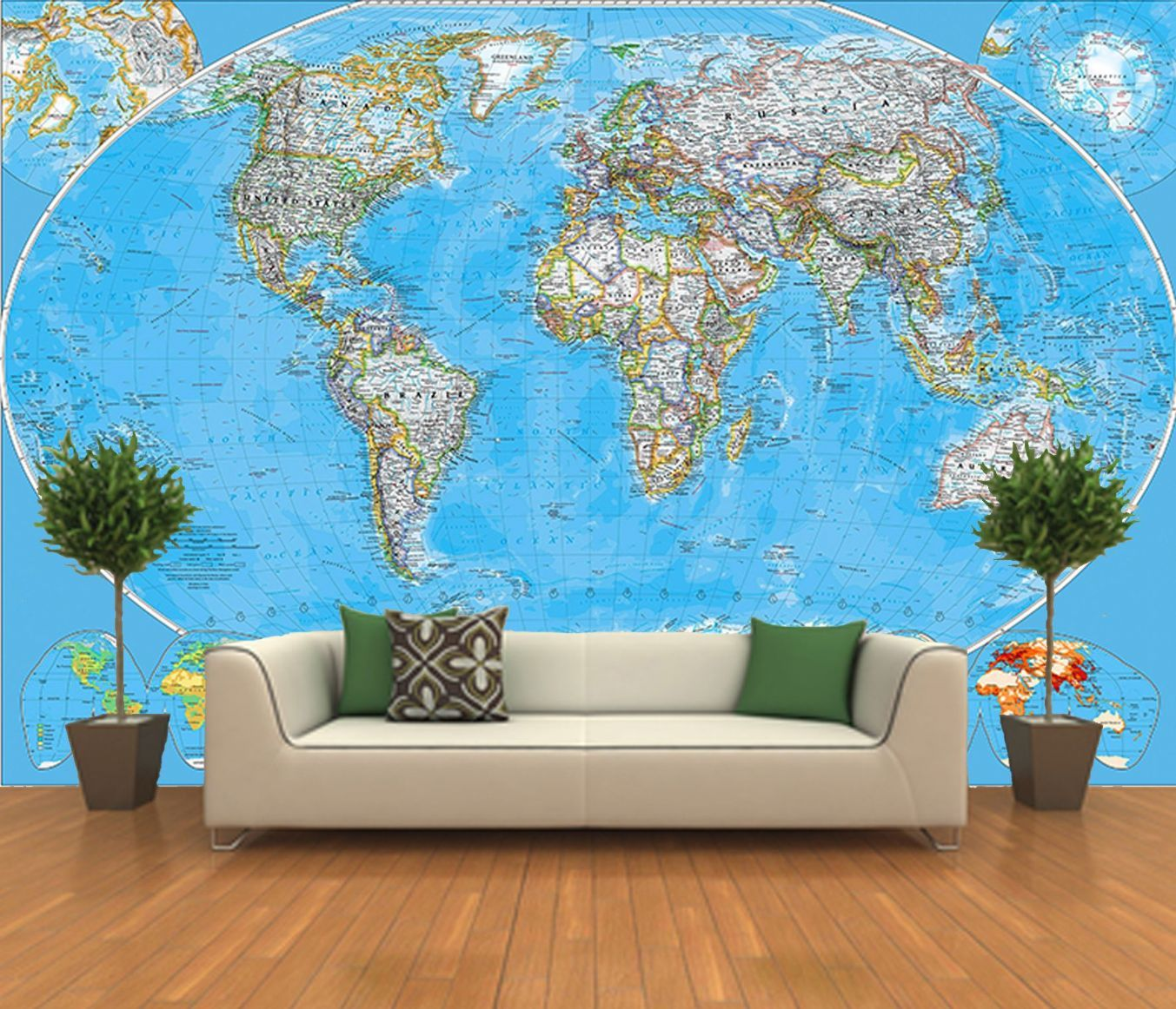 World map wall mural ft in x ft in mural wallpaper hd wallpapers world map wall mural ft in x ft in mural wallpaper gumiabroncs Choice Image