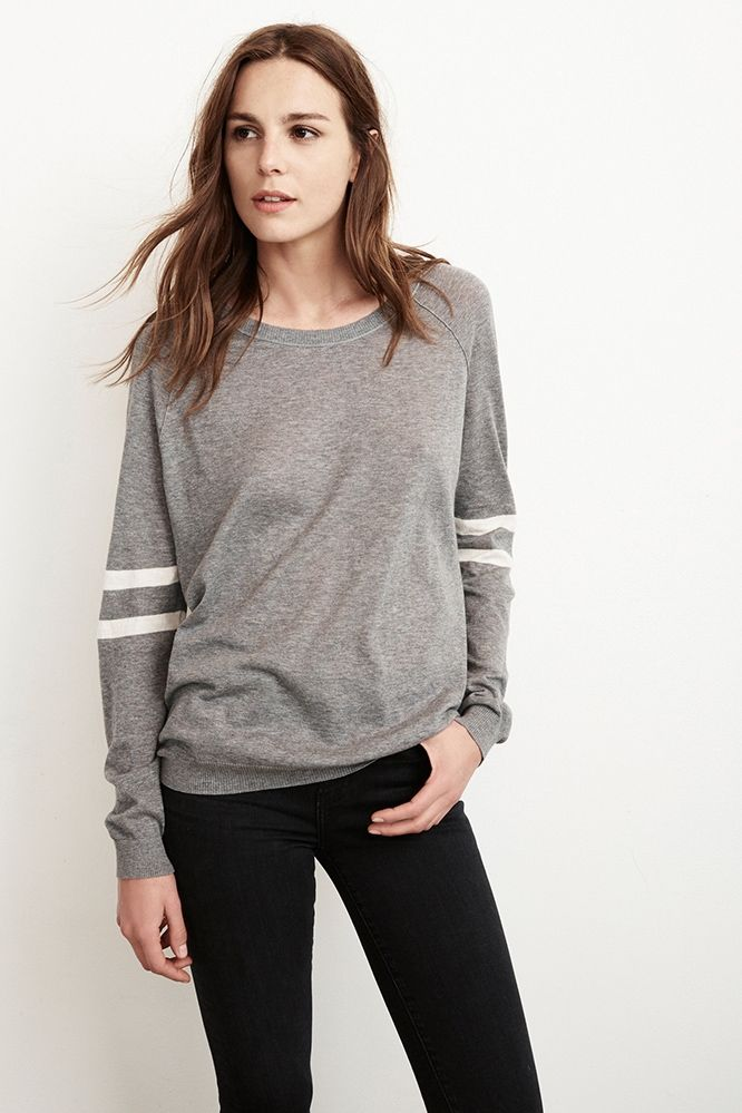 6d397a02d2f830 Theana Lux Cotton Raglan Sweater, Velvet by Graham and Spencer   New ...