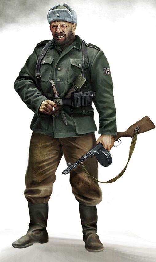 Dieselpunk Soldier Oleg the Bear, Hauptsc...