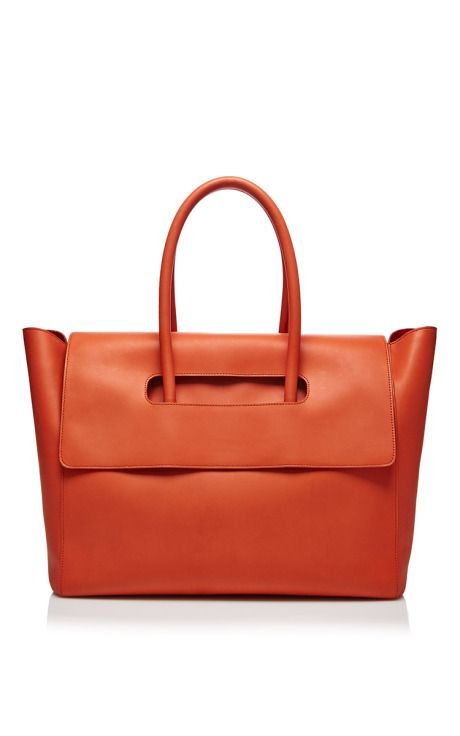 Nomad Tote In Poppy Red by Maison Ullens for Preorder on Moda Operandi