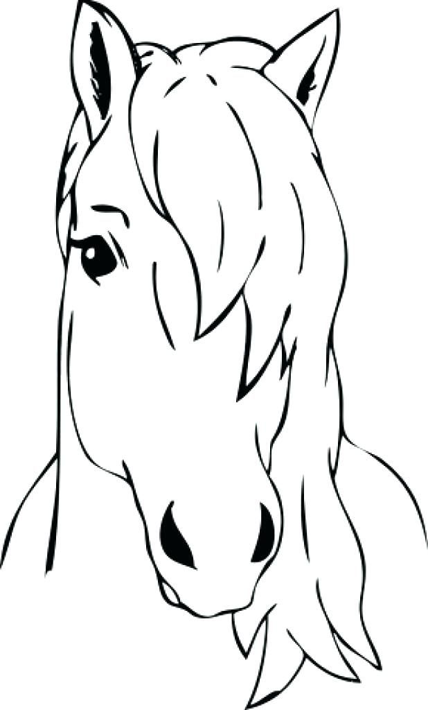 Horse Head Coloring Page Blank Face