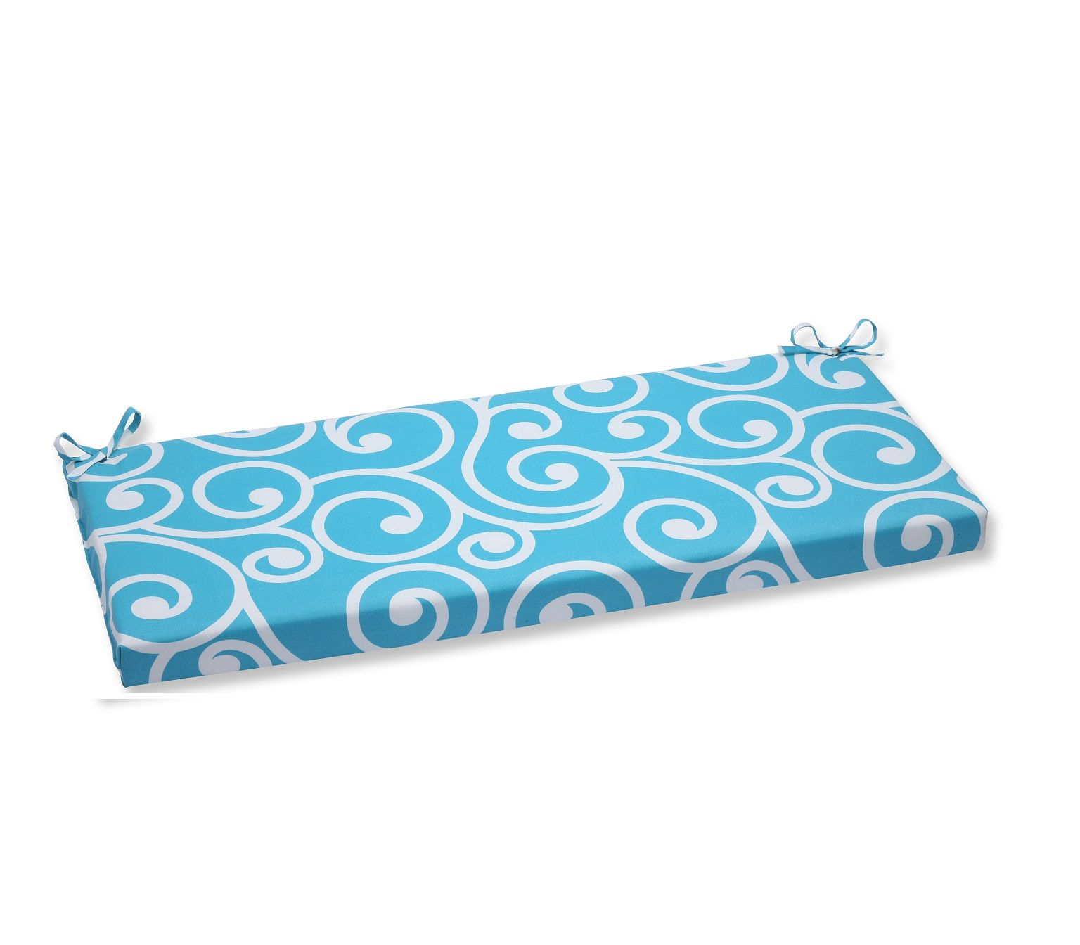 45 Coastal Serenity Turquoise And White Swirl Outdoor Patio Bench Cushion 32587901 Patio Bench Cushions Bench Cushions Perfect Pillow