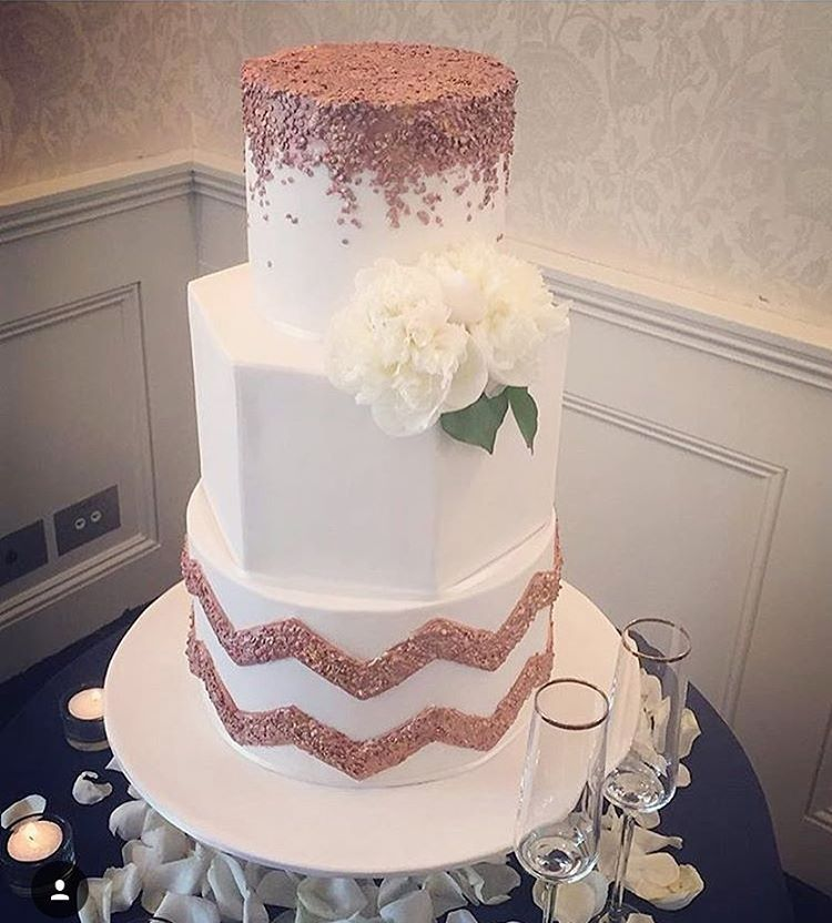 Our Rose Gold Themed Wedding Cake Over The Weekend At The