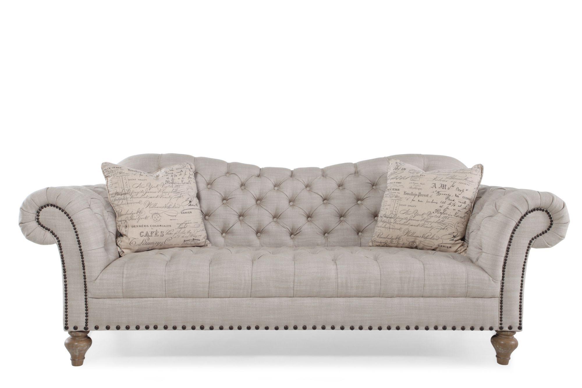 Rachlin Classics Vanna Linen Fabric Sofa Mathis Brothers