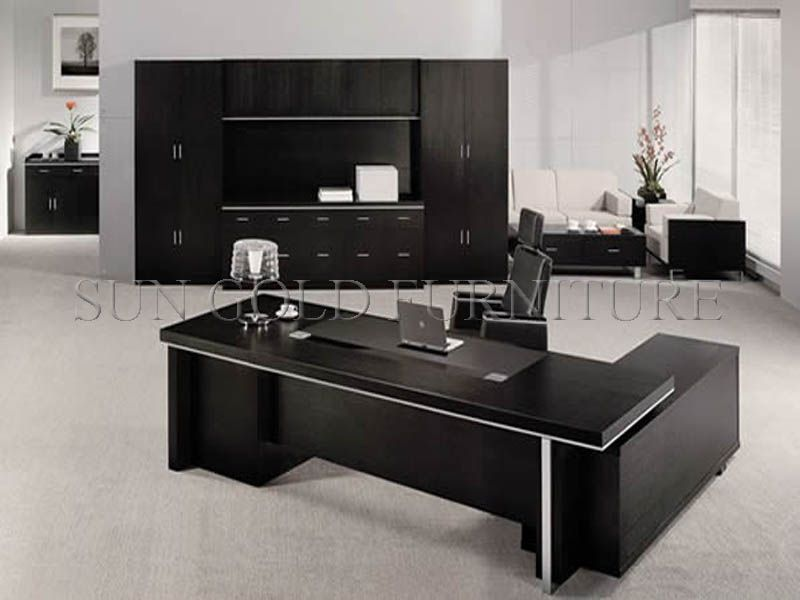 Modern Black Executive Desk Office Furniture (SZ OD011)